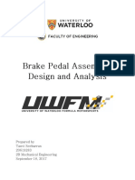 Brake Pedal Design & Analysis