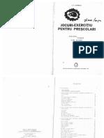 Jocuri-exercitiu Pentru Prescolari a v Lovinescu Ed Didactica Si Pedagigica 1979