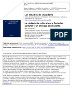 LIBRO 2003 - Cultural Citizenship in the Cultural Society. a Cosmopolitan Approach Nick Stevenson. ESPAÑOL Stevenson