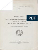 The Ishvara Pratyabhijna Karika of Utpaladeva - Tr. by Raffaelle Torella