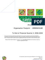 Sample Footprint Greenhouse