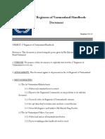 1st Regiment of Vastmanland Handbook