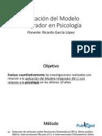 Aplicación del Modelo Integrador en Psicología