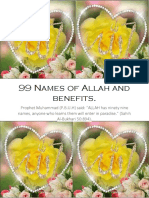99 Names of Allah and Benefits -Easy to follow PDF