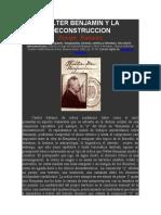 Walter Benjamin y La Deconstruccion