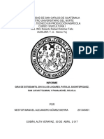 Reporte de Sivicultura de La Gira 2018