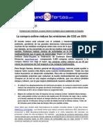 Nota de Prensa MundoOfertas La Compra Online Reduce Las Emisiones de Co2 en Un 35%
