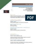 Curriculum Vitae Agustín Musi 1 1