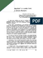 A Affectio Maritalis e a União Livre - Atualidade Do Direito Romano