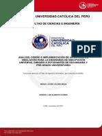 Analisis e Implementacion Sistema Simulacion a Estudiantes