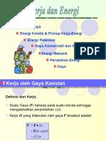 Fisika dasar - Kerja Dan Energi