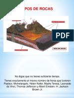11.0 TIPOS DE ROCAS
