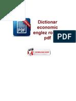 Dictionar Economic Englez Roman PDF