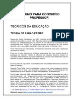 Resumo Para Concurso Professor - Paulo Freire