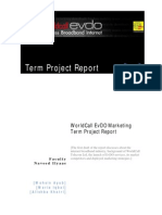 WorldCall EvDO Marketing Report