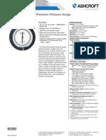 Datasheet a4a Precision Pressure Gauge