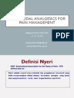 Multimodal Analgesics for Pain Management