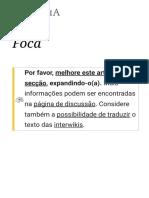 Foca – Wikipédia, A Enciclopédia Livre