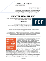 Mental Health Inc. by Art Levine Overlook Press Release