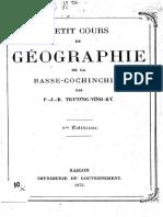 (1875) Petit Cours de Geographie de La Basse-Cochinchine - Trương Vĩnh Ký
