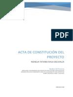 Acta de Constitución de Un Proyecto