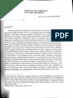 Antonio Carlos Wolkmer. Fundamentos do direito na cultura islâmica