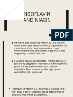 Ribofalvin and Niacin Report