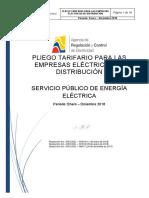 2018 01 11 Pliego y Cargos Tarifarios Del SPEE 20182