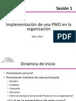 Sesion 1 - Implementación PMOs