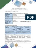 Guía de Actividades y Rúbrica de Evaluación - Fase 4 - Efectuar El Diagnóstico y Presentar La Propuesta de Mejoramiento Del Problema