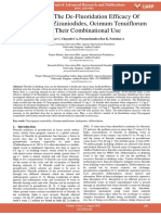Studies on the de Fluoridation Efficacy of Chrysopogon Zizaniodides Ocimum Tenuiflorum and Their Combinational Use