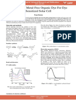 Synthesis of Metal Free Organic Dye for Dye Sensitized Solar Cell