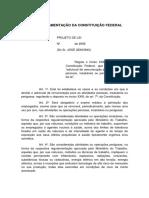 Jose Genoino - Anteprojeto - Regula Art 7o XXIII Da CF