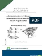 Comparison Bn Supervised&Unsupervised Neural Networks Senait D Senay 2003