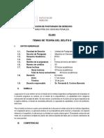 Sílabo - Teoría Del Delito-2 - Usmp - 2018 - i