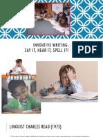 inventive spelling presentation