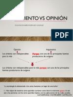 Argumento vs Opinion