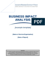MBCF Business Impact Analysis Template