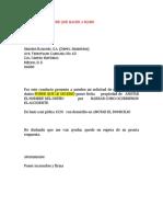 Carta Reclamacion Machote Descarga Electrica