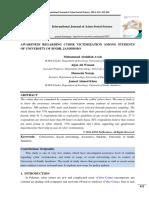 AWARENESS REGARDING CYBER VICTIMIZATION AMONG STUDENTS.pdf