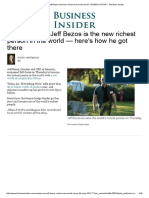 Amazon CEO Jeff Bezos Becomes Richest Man in the World_ CAREER HISTORY - Business Insider
