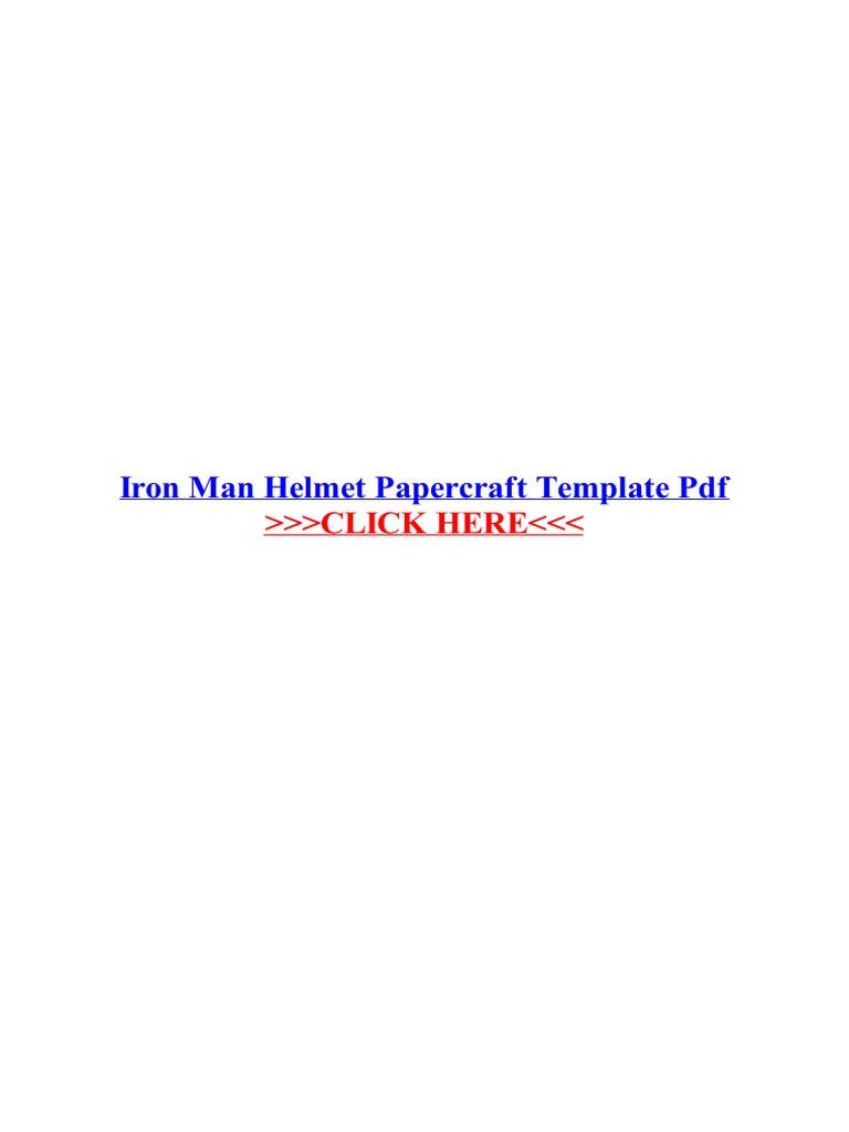iron man helmet papercraft template pdf portable document format