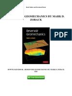 Pdf reservoir geomechanics zoback