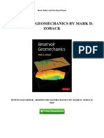 Reservoir Geomechanics by Mark d Zoback