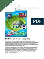 Prediksi Skor PSG vs Guingamp 30 April 2018