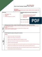 lesson plan template sciece experment