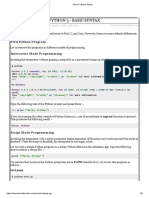 Python 3 Basic Syntax