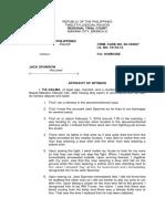 Affidavit 1