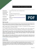 HEW 5, Customer Contact Officer, SSC (2)