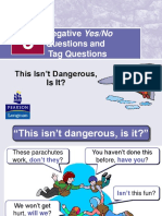 Negative Yes-no Tag Questions